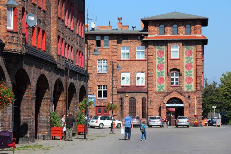 Katowice Nikiszowiec foto de archivo libre de regalías