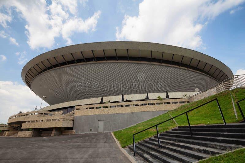Katowice, Poland -june, 2017: Sport arena in Katowice called Spodek, Silesia, Poland royalty free stock photography