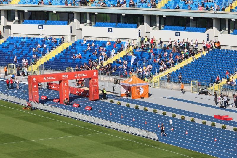 Marathon run in Poland stock image
