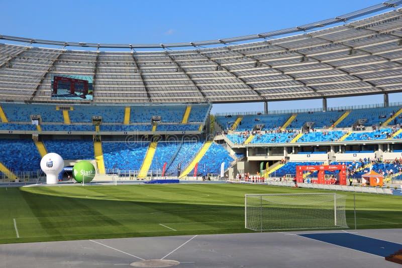 Silesian Stadium, Poland. KATOWICE, POLAND - OCTOBER 1, 2017: Silesian Stadium (Stadion Slaski) open day in Katowice, Poland. Stadion Slaski is one of biggest royalty free stock photos