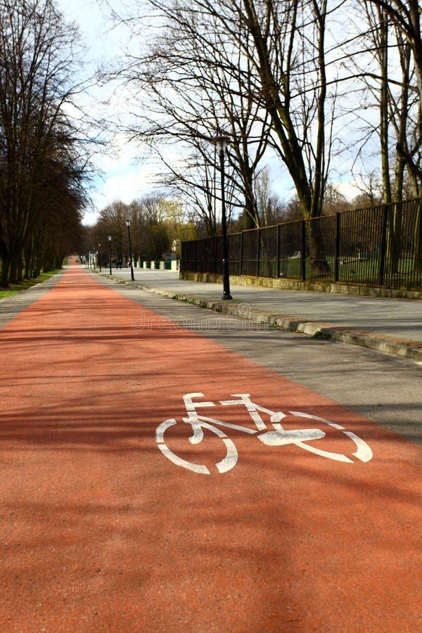 Katowice Polonia, trayectoria de la bicicleta foto de archivo libre de regalías
