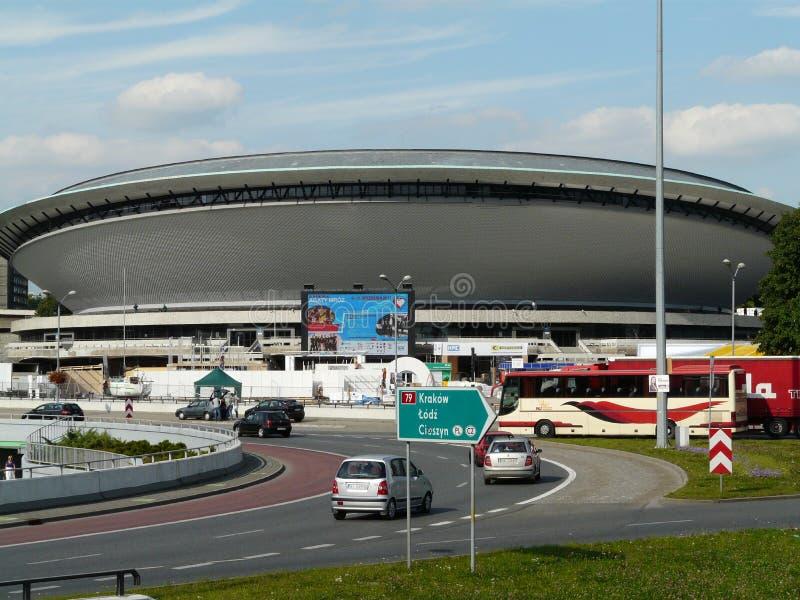 KATOWICE, SILESIA, arena do salão do Polônia-Spodek imagem de stock royalty free