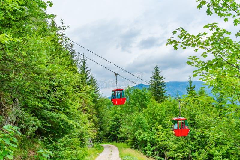 Katrin wagon kolei linowej, Zły Ischl, Austria obrazy stock