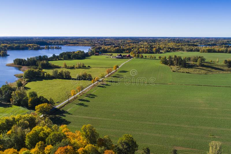 Beautiful nature and landscape photo of colorful autumn day in Sweden. Katrineholm Sweden. Beautiful nature and landscape photo of colorful autumn day in stock photo