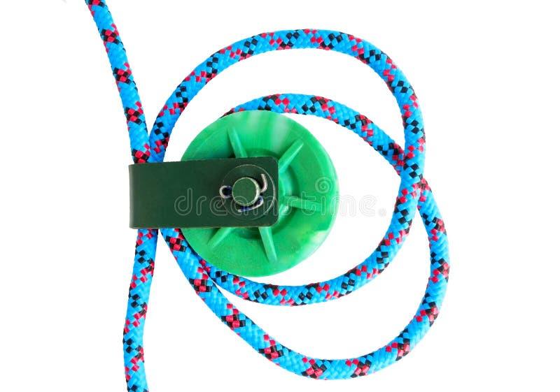 Katrol met kabel stock afbeeldingen