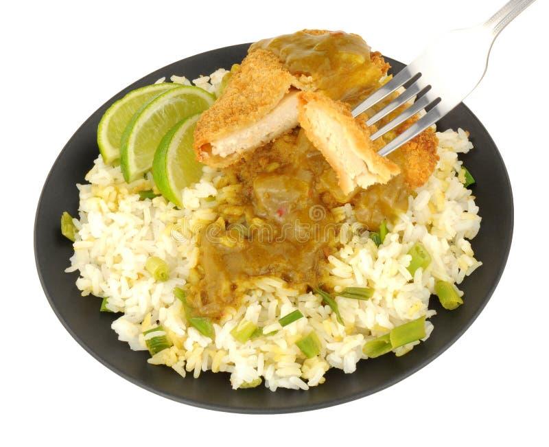 Katsu Chicken Curry With Rice fotos de stock royalty free