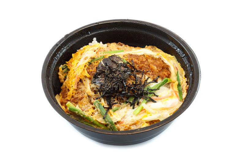Katsu Don. Or Fried pork with rice is Japanese Food royalty free stock photo