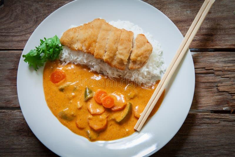 Katsu Kare curry'ego naczynie zdjęcia royalty free