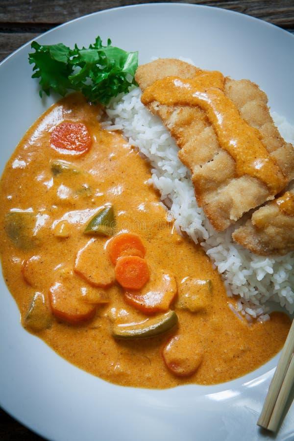 Katsu Kare curry'ego naczynie fotografia royalty free