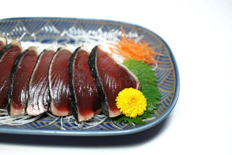 Katsuo sashimi plate royalty free stock photos