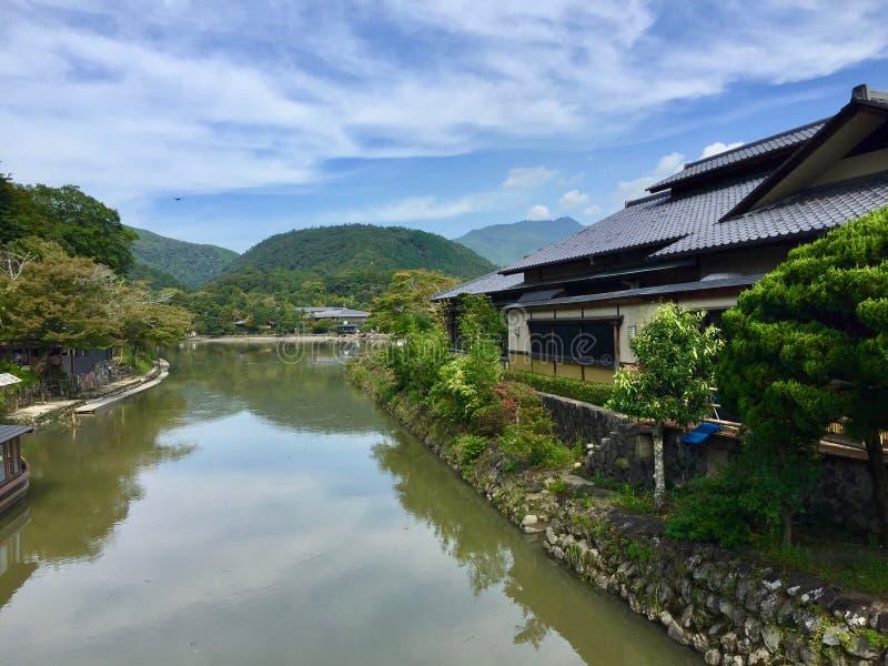 Katsura flod i Kyoto Japan arkivfoto