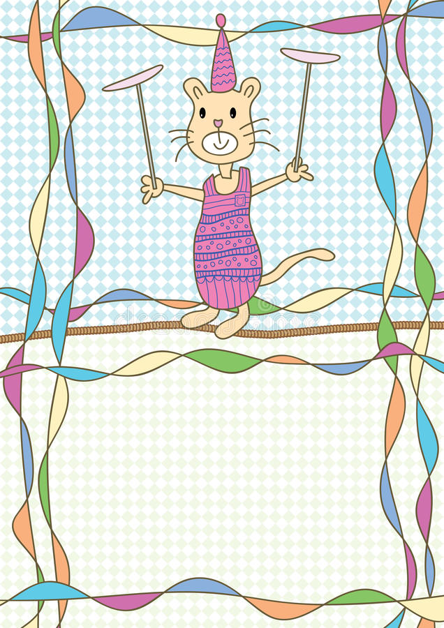 Katt Circus_eps royaltyfri illustrationer
