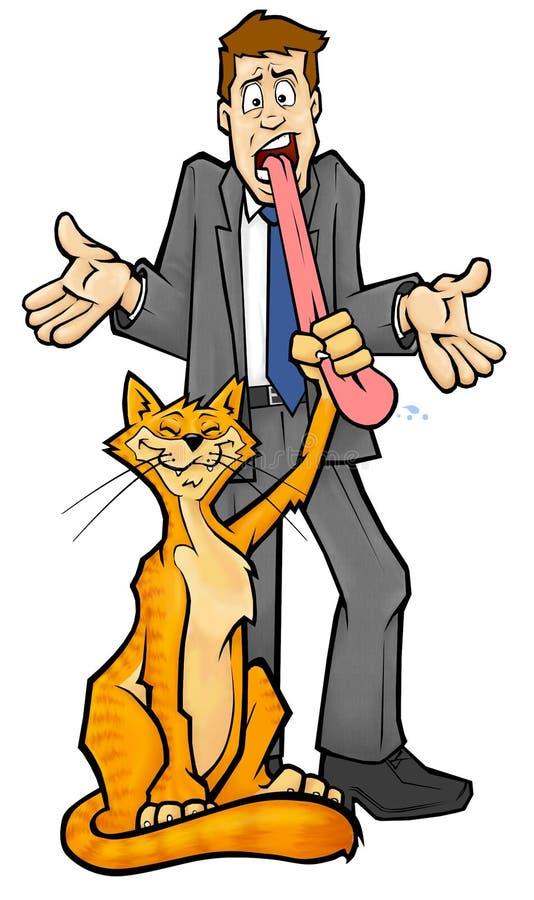katt din fången tunga vektor illustrationer