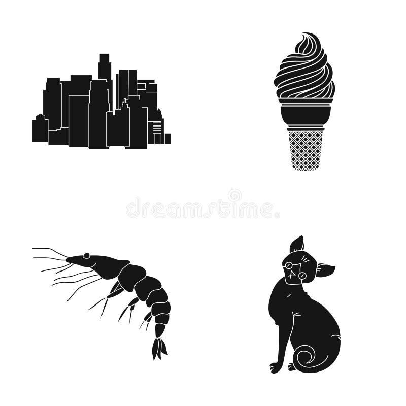 Katt, hem, framsteg och annan rengöringsduksymbol i svart stil , hav, vatten, däggdjur, symboler i uppsättningsamling stock illustrationer