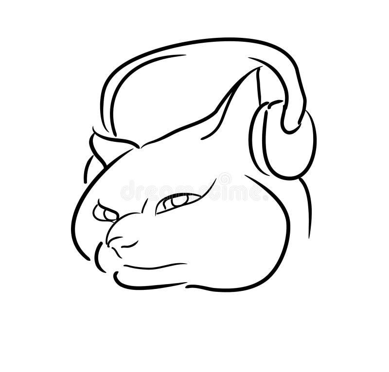 Katt & musik royaltyfri foto