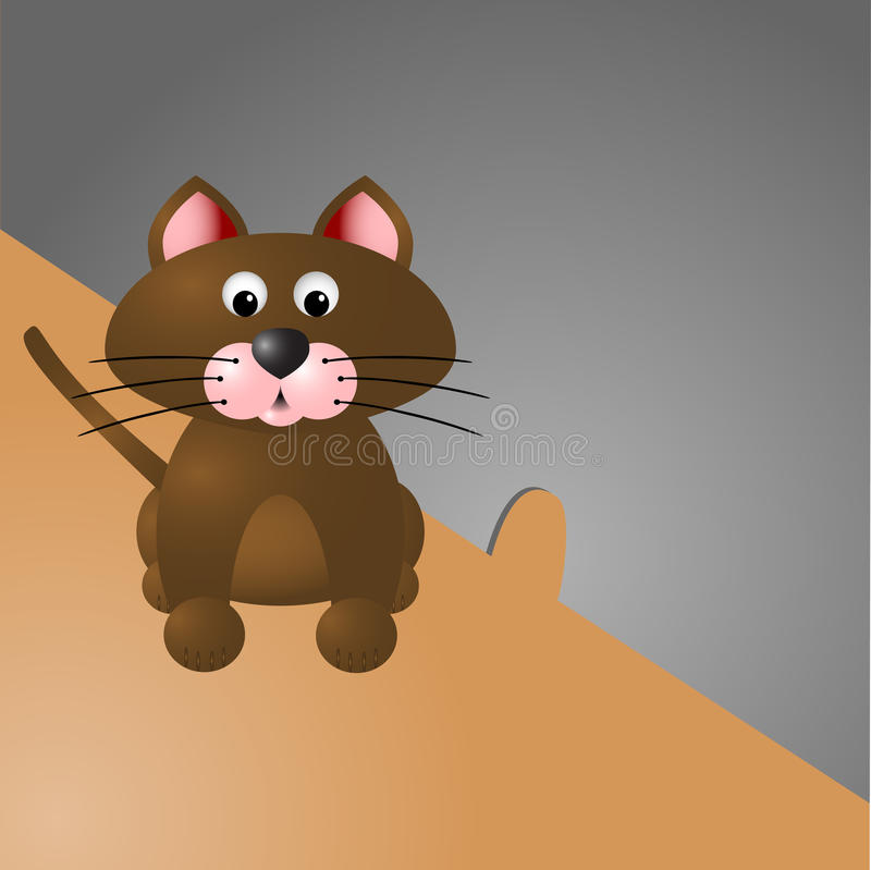 Katt och mushålet royaltyfria bilder
