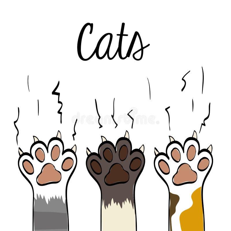 Kattdesign Djurt begrepp Plan illustration, vektor vektor illustrationer