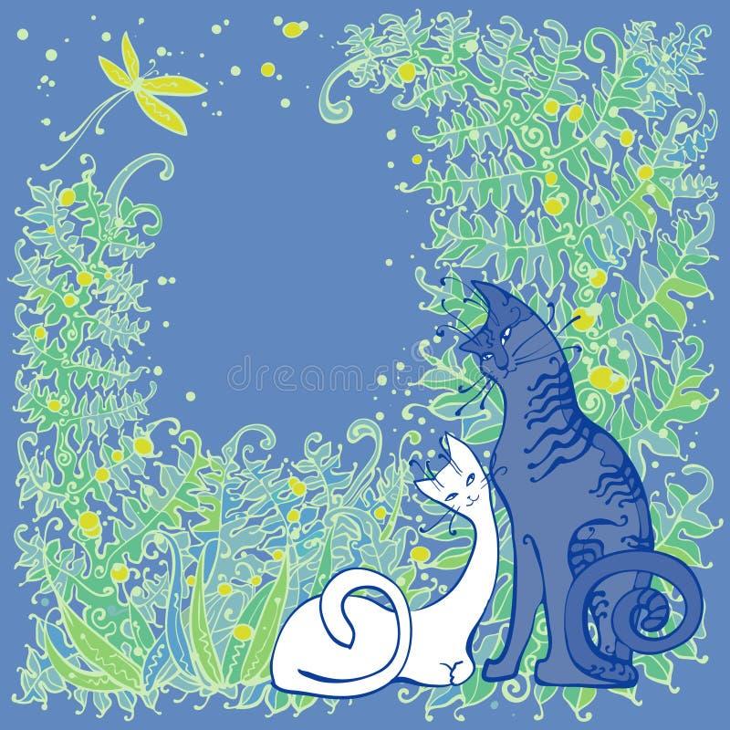 Katten royalty-vrije illustratie