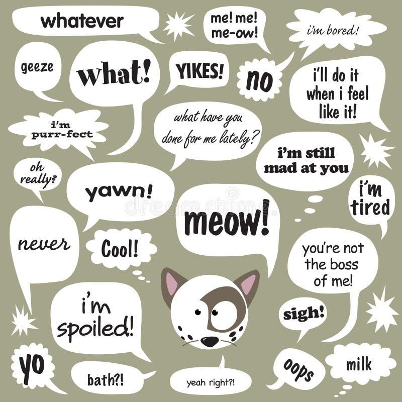 katten bespreking royalty-vrije illustratie