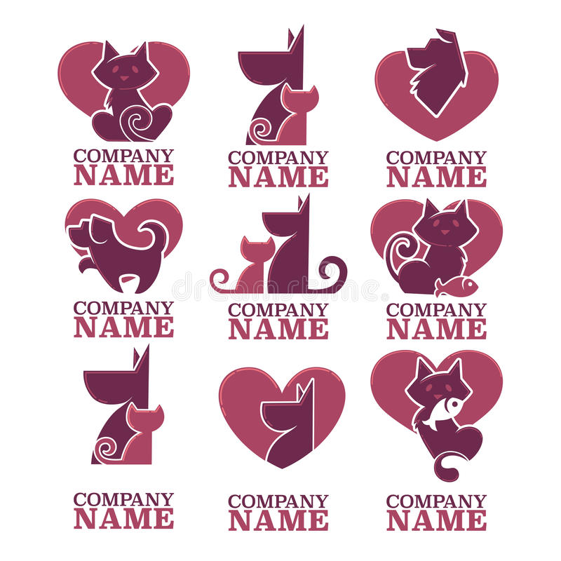 Katten en honden vector illustratie