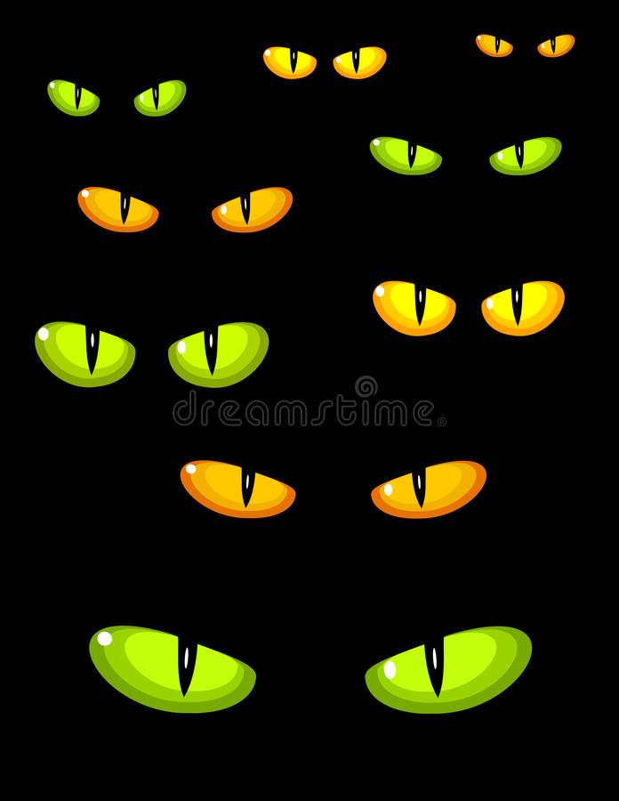 katten eyes wild vektor illustrationer