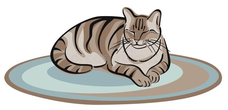 katten ta sig en tupplur vektor illustrationer