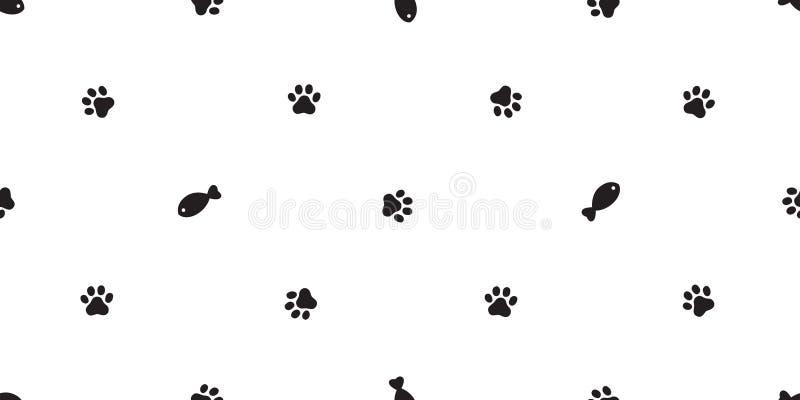 Katten tafsar den sömlösa tapeten för repetition för bakgrund för tegelplattan för tecknade filmen för allhelgonaaftonen för avel royaltyfri illustrationer