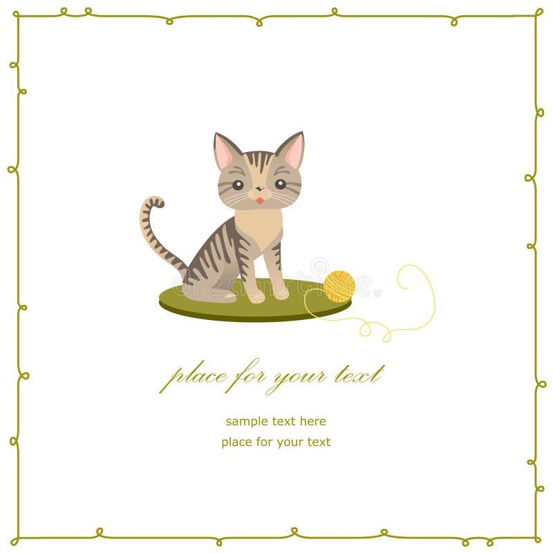 Kattenkaart stock illustratie