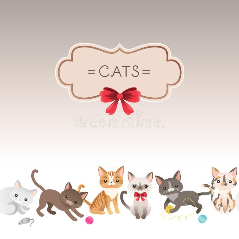 Kattenkaart vector illustratie