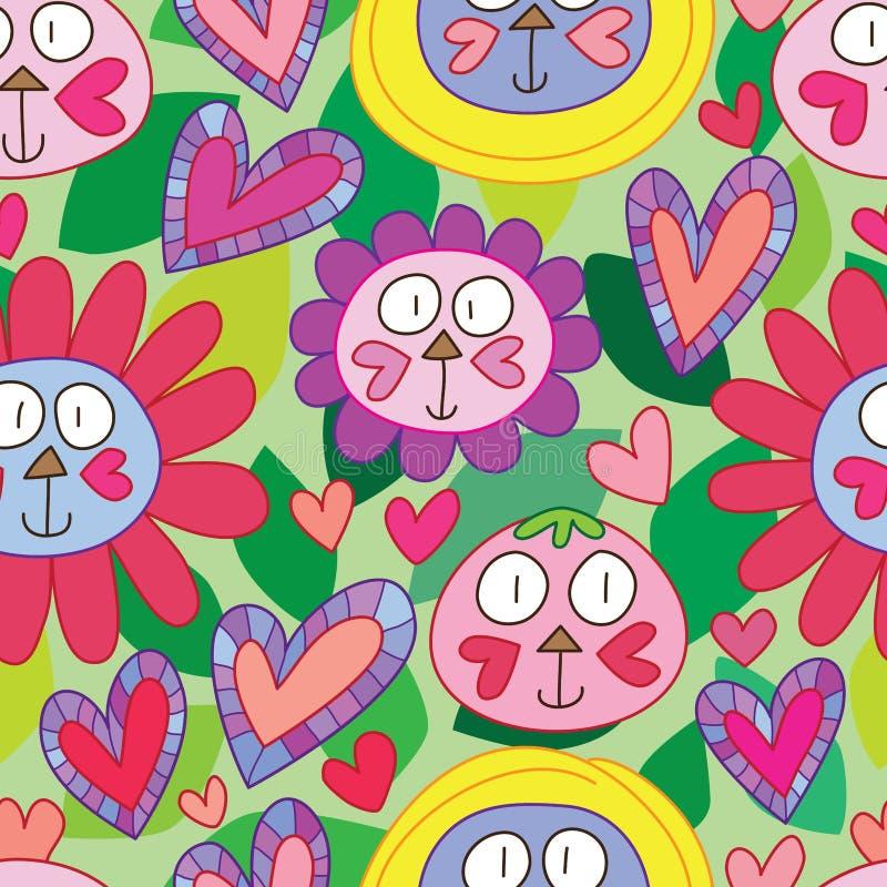 Kattenliefde alles leuk naadloos patroon vector illustratie