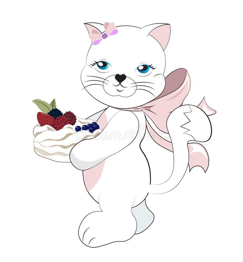 Kattenmeisje royalty-vrije illustratie