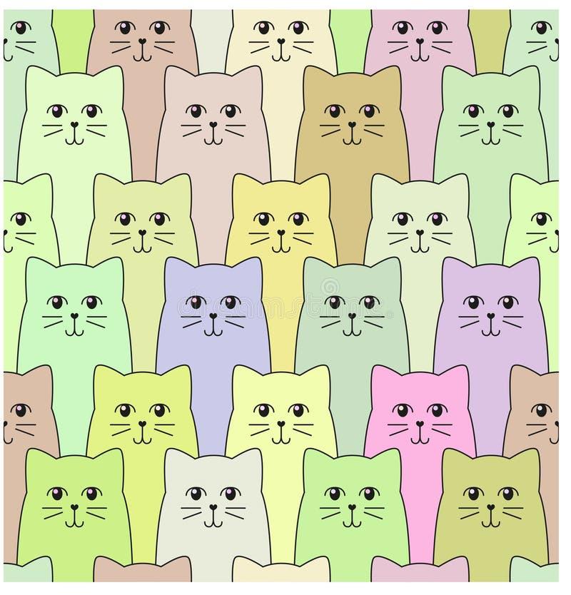 Kattenpatroon stock afbeelding