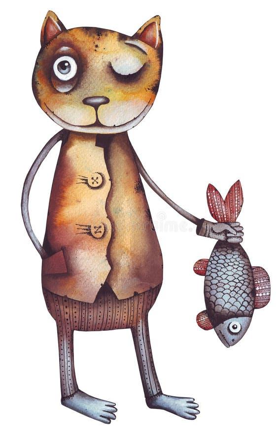 kattfisk royaltyfri illustrationer