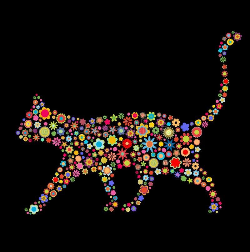 Kattform stock illustrationer