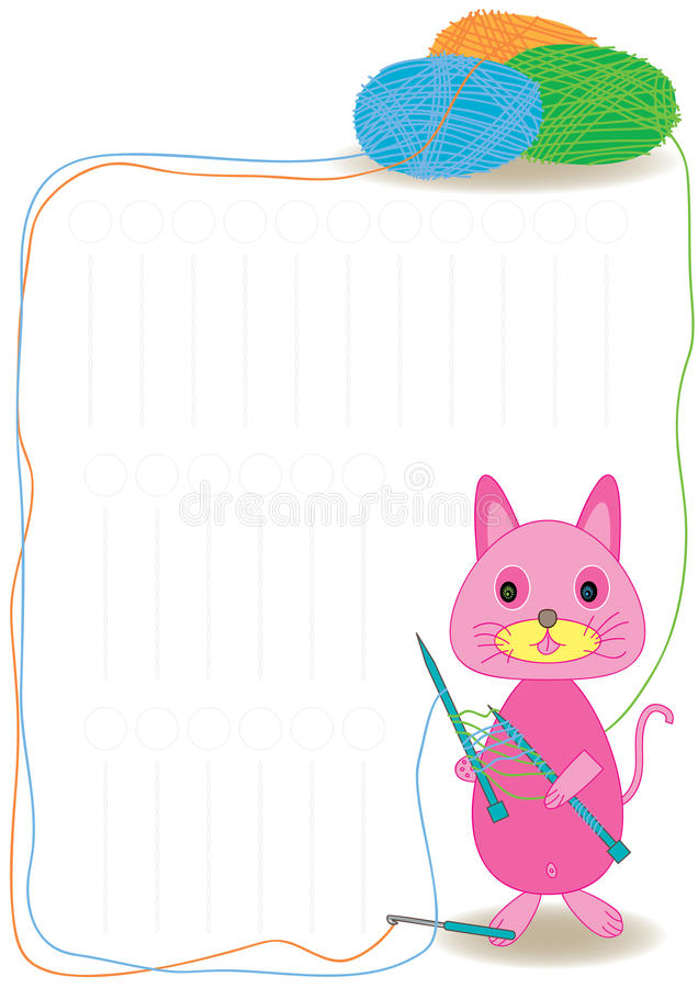 kattgarn stock illustrationer