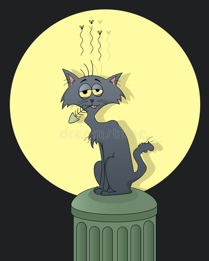kattgata royaltyfri illustrationer