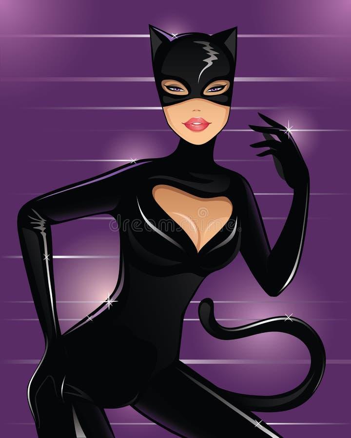 kattkvinnor vektor illustrationer