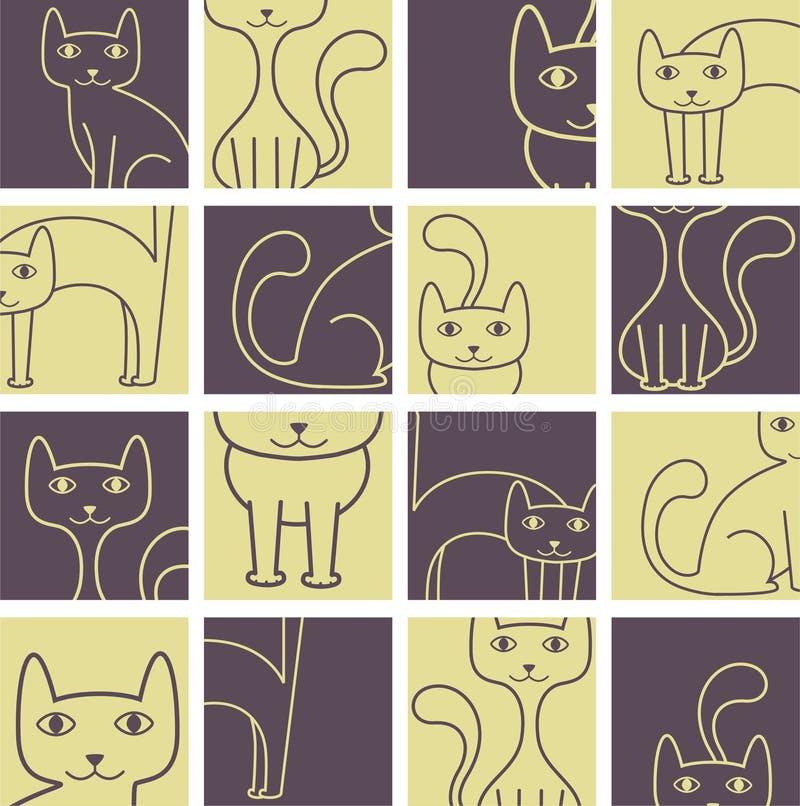 kattmodell royaltyfri illustrationer