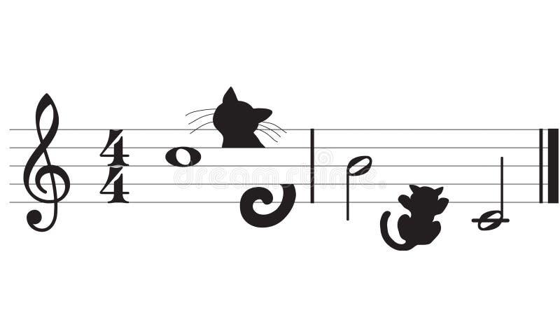 kattmusikvektor