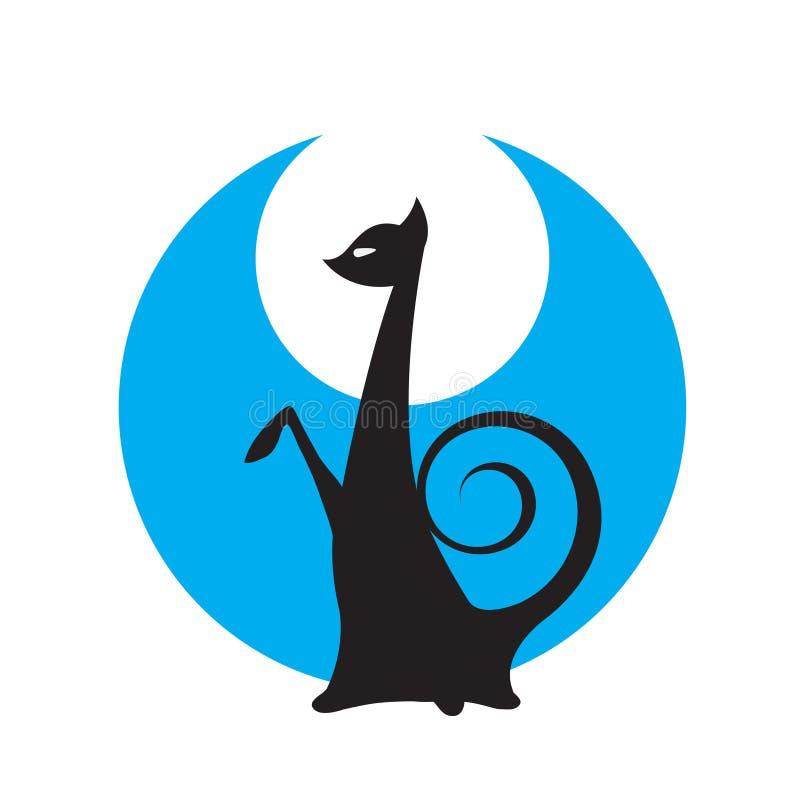 kattnattvektor arkivbild