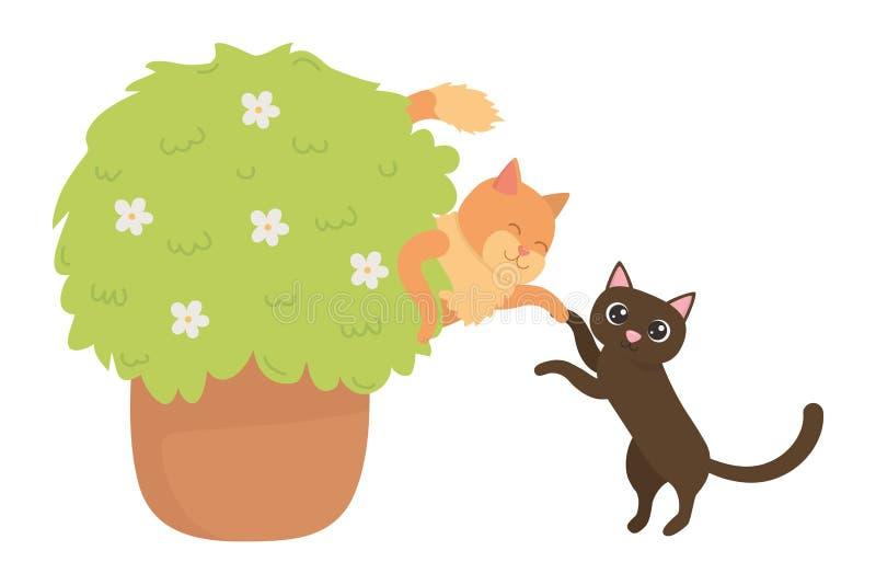 Katttecknade filmer planlägger vektorillustratören stock illustrationer