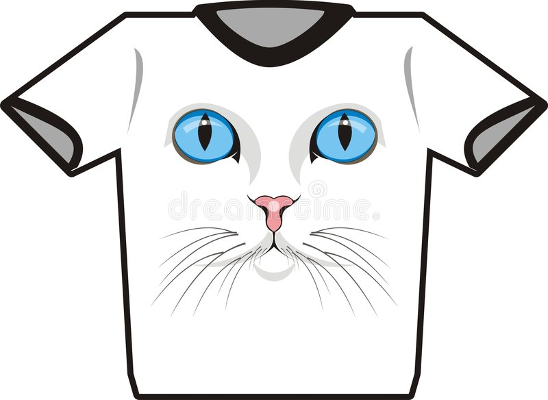 katttshirt stock illustrationer