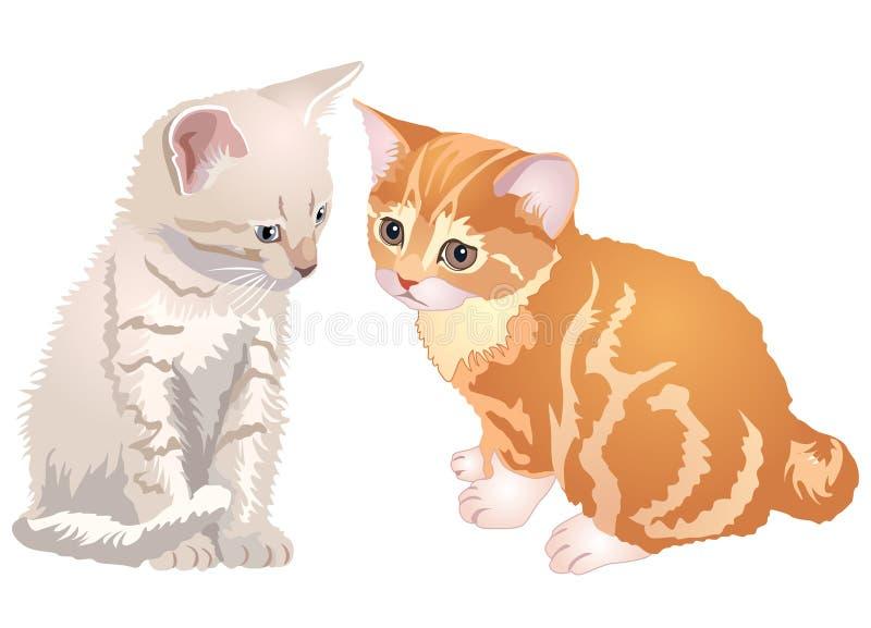 kattungar vektor illustrationer