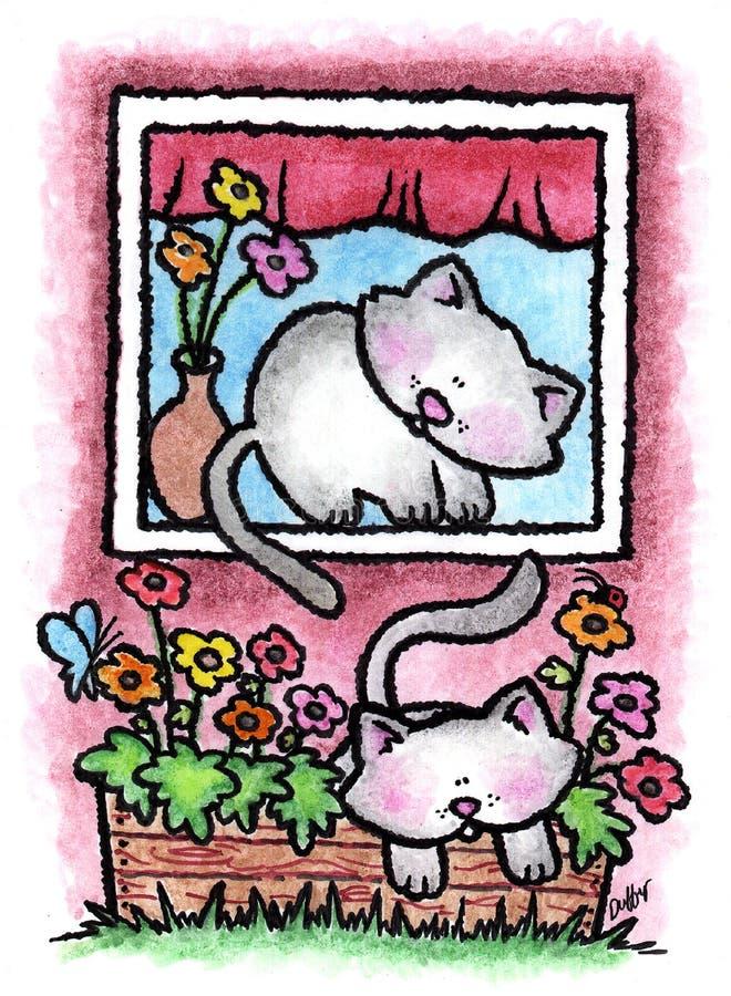 kattungar royaltyfri illustrationer