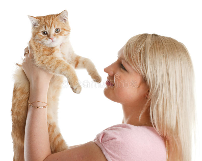 kattungekvinnabarn fotografering för bildbyråer