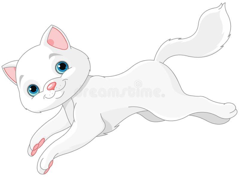 kattungevägen kör white royaltyfri illustrationer