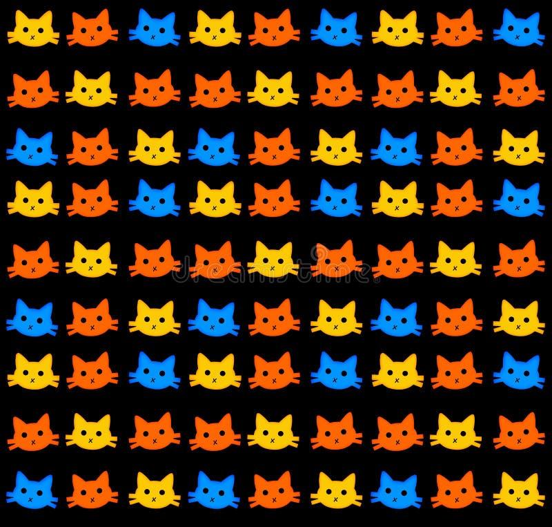 kattungewallpaper stock illustrationer