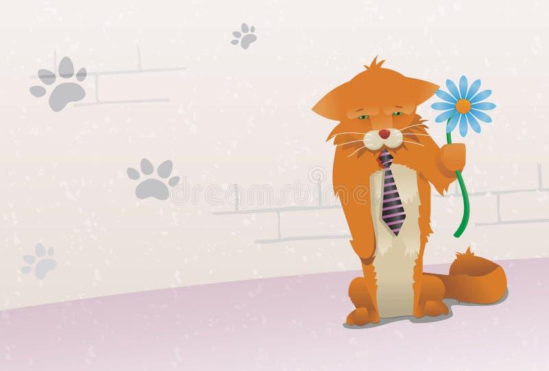 kattursäkt mig rött ledset för M stock illustrationer