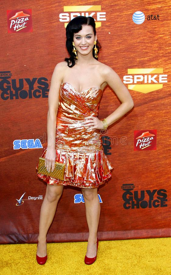 Katy Perry. Attends the Spike TV 2nd Annual Guys Choice Awards held at the Sony Pictures Studios in Culver City, California, United States on May 30, 2008 stock photography