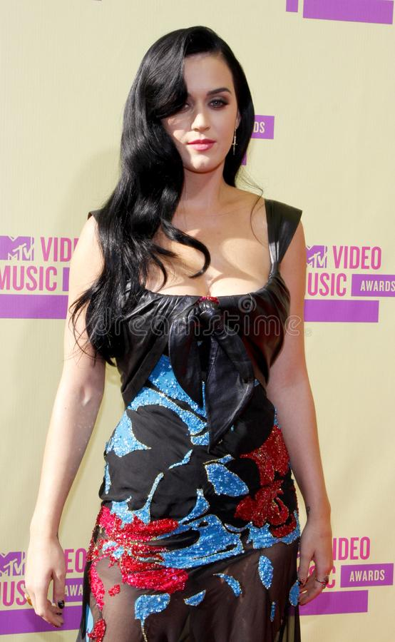 Katy Perry. At the 2012 MTV Video Music Awards held at the Staples Center in Los Angeles, United States on September 6, 2012 royalty free stock photos
